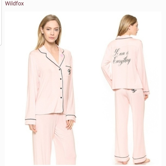 Wildfox Other - WILDFOX Pajama set NWT Bridal Love is Everything